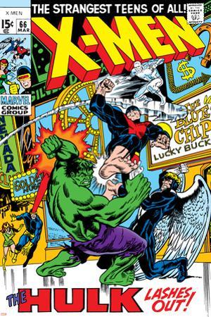 X-Men No.66 Cover: Hulk, Beast, Iceman and Angel by Sal Buscema