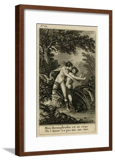 Salmacis and Hermaphrodite--Framed Giclee Print