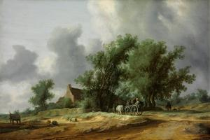 Road in the Dunes with a Carriage by Salomon Jacobsz van Ruisdael