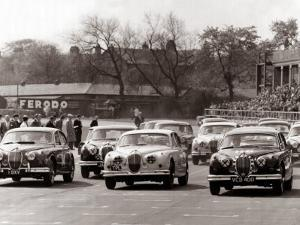 Saloon Car Race at the International '200' Meeting at Aintree, Jaguar S-Type Saloon Car, April 1961