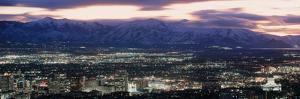 Salt Lake City,Utah Skyline at Night