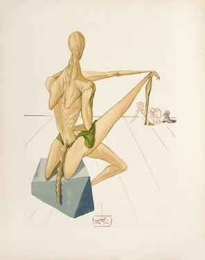 Divine Comedie, Enfer 05: Minos by Salvador Dalí