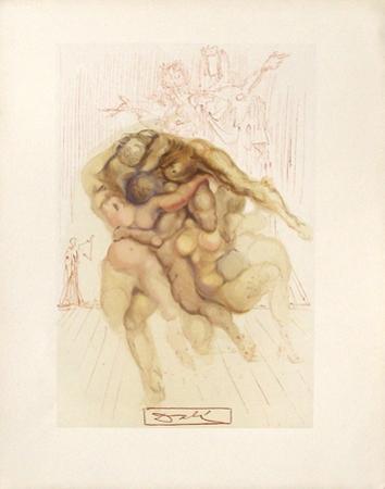 Divine Comedie, Enfer 08: Les Coléreux by Salvador Dalí
