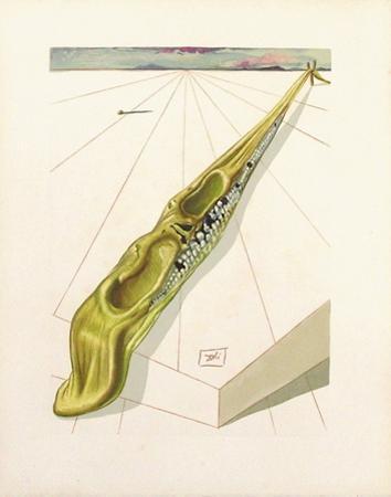 Divine Comedie, Enfer 14: Blasphemateurs by Salvador Dalí