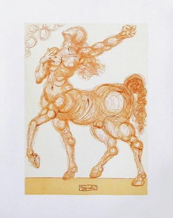 Divine Comedie, Enfer 25: Le Centaure by Salvador Dalí