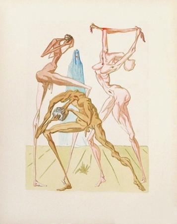 Divine Comedie, Enfer 26: Les habitants de Prato by Salvador Dalí