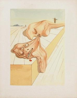 Divine Comedie, Enfer 30: Les hommes qui s'entre-dévorent by Salvador Dalí