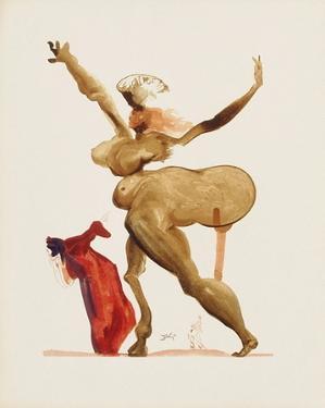 Divine Comedie, Enfer 33: Les Traitres Envers Leurs Hôtes by Salvador Dalí
