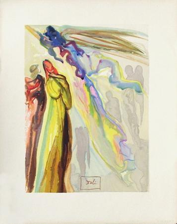 Divine Comedie, Paradis 16: Apparition de l'ancêtre by Salvador Dalí