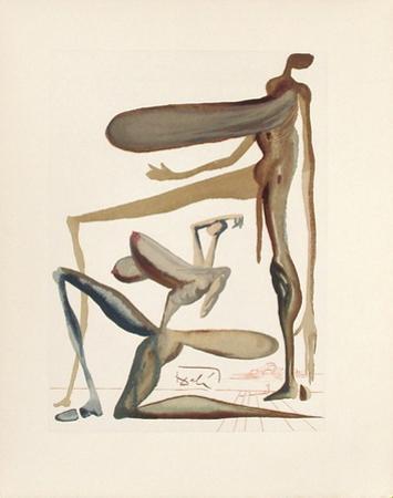 Divine Comedie, Purgatoire 22: La prodigalite by Salvador Dalí