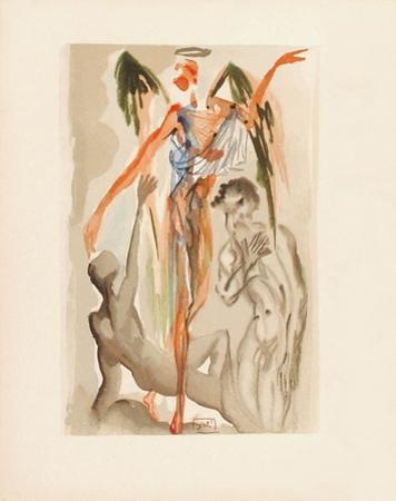 Divine Comedie, Purgatoire 32: Le Paradis terrestre by Salvador Dalí