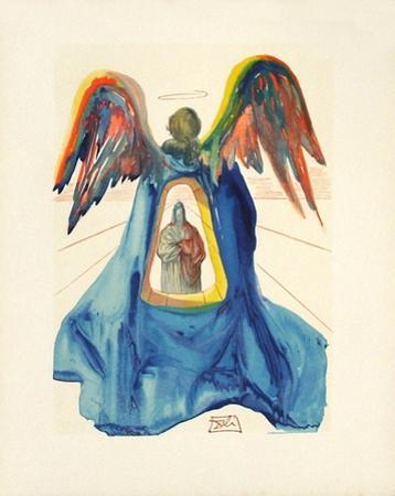 Divine Comedie, Purgatoire 33: Dante purifie by Salvador Dalí