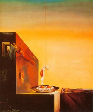 Eggs on a Plate by Salvador Dalí