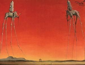 Les Elephants by Salvador Dalí