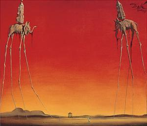 Les Eléphants by Salvador Dali