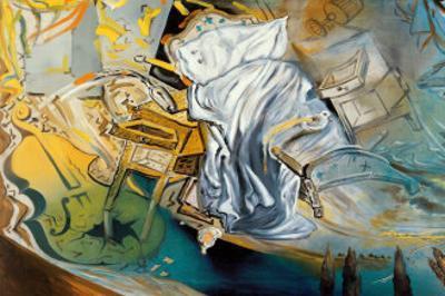 Lit et Deux Tables de Nuit by Salvador Dalí