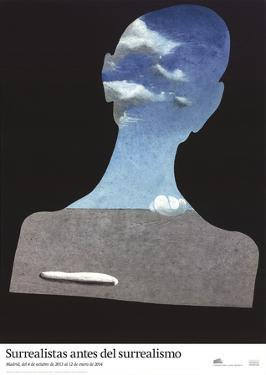 Man with a Head Full of Clouds by Salvador Dali