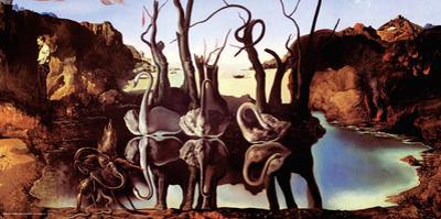 Salvador Dali- Swans Reflecting Elephants by Salvador Dali