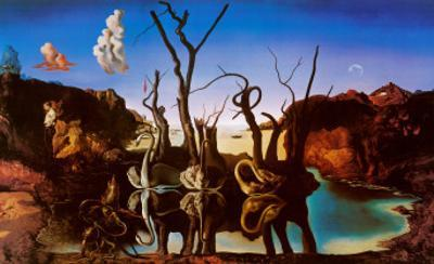 Swans Reflecting Elephants, c.1937 by Salvador Dali