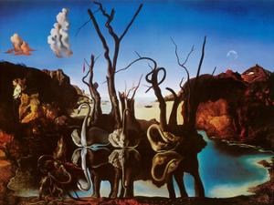 Swans Reflecting Elephants, c.1937 by Salvador Dalí