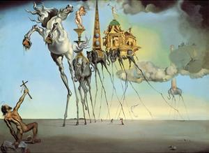 The Temptation of Saint Anthony, 1946 by Salvador Dali