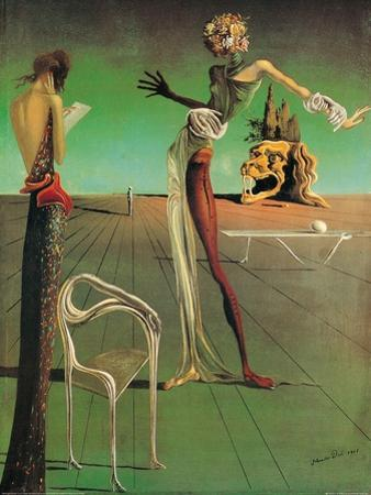 Woman with a Head of Roses by Salvador Dalí