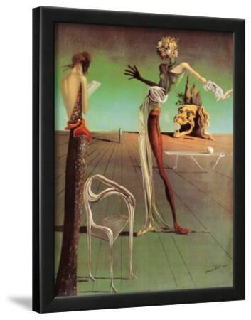 A GIRL AT THE WINDOW BY SALVADOR DALI REPRINT ON FRAMED CANVAS PICTURE WALL ART Art