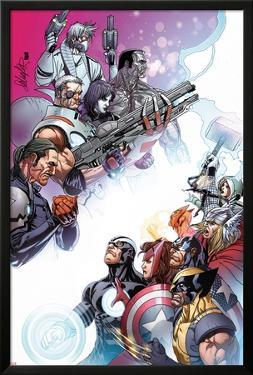 Cable and X-Force #10 Cover: Forge, Cable, Domino, Dr. Nemesis, Colossus, Rogue, Thor, Sunfire by Salvador Larroca