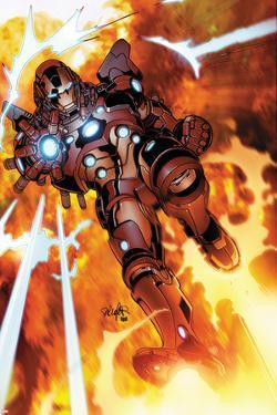 Invincible Iron Man #523 Cover Featuring Iron Man by Salvador Larroca