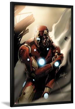 Invincible Iron Man No.33 Cover: Iron Man Standing by Salvador Larroca