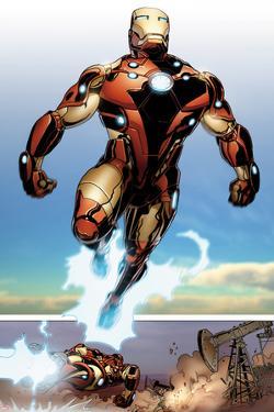 Invincible Iron Man No.514: Iron man Flying by Salvador Larroca