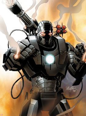 Iron Man 2.0 No.1 Cover: War Machine by Salvador Larroca