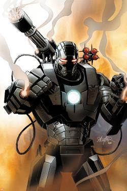 Iron Man 2.0 No.1 Cover: War Machine by Salvador Larroca