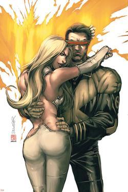New X-Men No.156 Cover: Cyclops, Emma Frost and Phoenix by Salvador Larroca