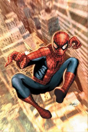 The Amazing Spider-Man No.549 Cover: Spider-Man by Salvador Larroca