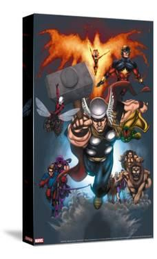 The Official Handbook Of The Marvel Universe: Book of the Dead 2004 Cover: Thor Jumping by Salvador Larroca