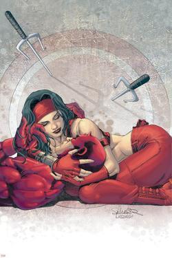 Ultimate Elektra No.4 Cover: Daredevil and Elektra by Salvador Larroca