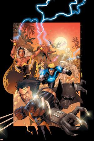 X-Men No.175 Cover: Wolverine, Storm, Black Panther, Havok, Iceman and X-Men