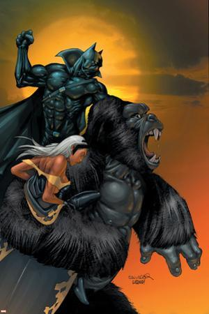X-Men No.176 Cover: Storm, Black Panther and Super Apes