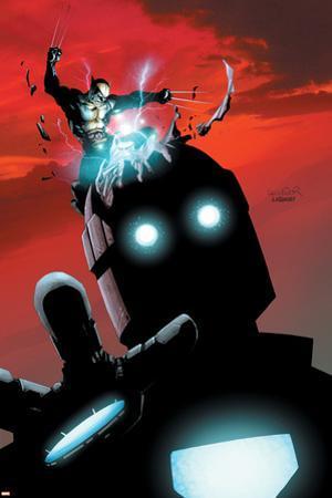 X-Men No.178 Cover: Wolverine and Sentinel by Salvador Larroca