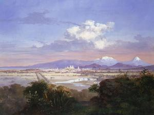 The Valley of Mexico with Volcanoes, 1879 by Salvador Murillo