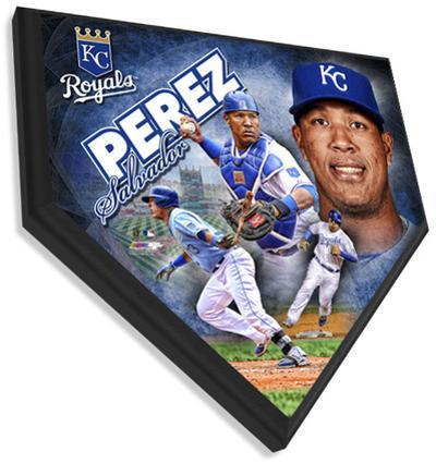Salvador Perez Home Plate Plaque