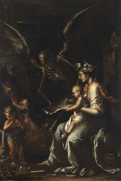 Human Frailty, C.1656 by Salvator Rosa