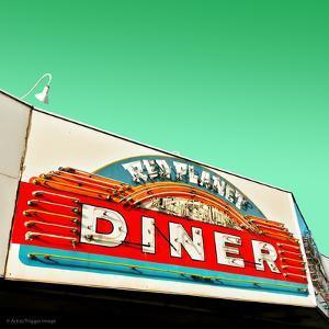 Diner Neon Retro Sign in America by Salvatore Elia
