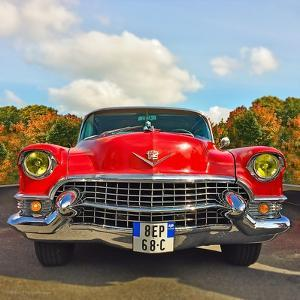 Front View of Vintage 50's Car in America by Salvatore Elia