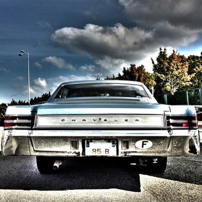 Rear View of Vintage Automobile in America by Salvatore Elia