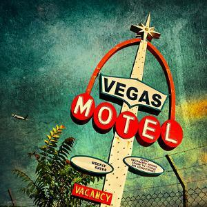 Retro Americana Vegas Motel Sign by Salvatore Elia