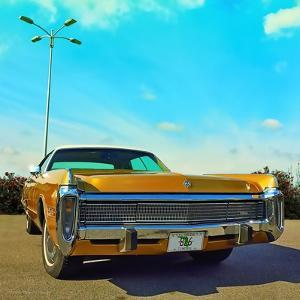 Vintage Car in Gold Paint with Chrome Grill by Salvatore Elia