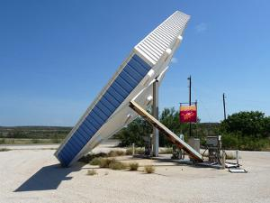 Vintage Petrol Station in America with Abandoned Pumps by Salvatore Elia