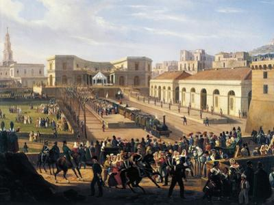 Inauguration of the Naples-Portici Railway, October 3, 1839